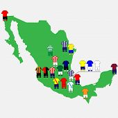 Mexican League Clubs Map