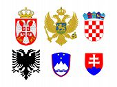 Coats Of Arms Of European Flags 2