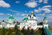 panorama of  ancient monastery in the city  Rostov