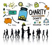 Business People Handshake Give Help Donate Charity Concept