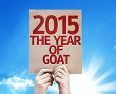 2015 The Year of Goat card with a beautiful day