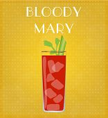 Drinks List Bloody Mary With Golden Background