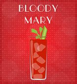 Drinks List Bloody Mary With Red Background