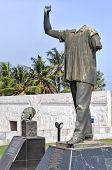 Dr. Kwame Nkrumah Vanzalized Statue