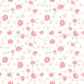 cute little pink flowers on white