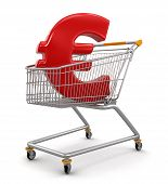 Shopping Cart with Euro  (clipping path included)