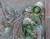 Cemetery pieta statue
