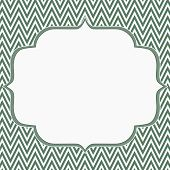 stock photo of chevron  - Green and White Chevron Zigzag Frame Background with center for copy - JPG