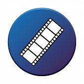 Round Button with film symbol