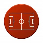 Round Button with soccer symbol