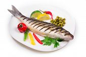 seabass and vegetables
