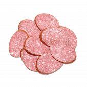 Heap Of Sliced Sausage
