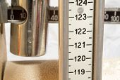 Old Scale With The Meter To Measure The Weight And Height