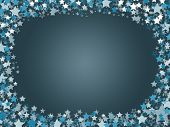 Blue Star on Navy Background