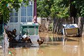 Yard flooded