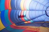Inside Of A Hot Air Balloon At The Beginning Of Inflating