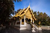 Phra Tha Jom Kitti temple in the western part of the old city center of Chiang Sean ,Chiang Rai.