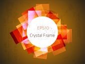 Abstract crystal frame for your design. Fully vector, enjoy!