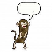 cartoon crazy monkey with speech bubble