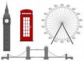 London symbol, silhouette icon, vector illustration