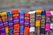 Colorful indigenous fabrics