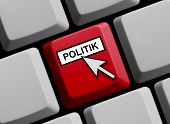 Computer Keyboard showing Politics