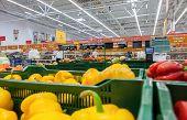 Sale Of Fresh Vegetables In The Hypermarket Network Auchan