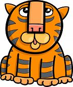 picture of cute tiger  - Cartoon Illustration of Cute Tiger Wild Cat Animal - JPG