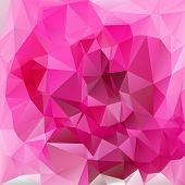 Vector Polygonal Background Triangular Design In Valentine Da