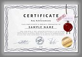 Vintage Certificate Template With Detailed Border And Calligraphic Elements On Dotted Paper With Saf