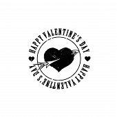Black grunge heart arrow shape