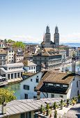 stock photo of zurich  - Zurich urban view - JPG