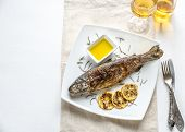Grilled Trout With Lemon And Rosemary