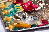 Festive Food Design With The Baked Salmon