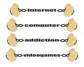 Internet computer addiction video games signs