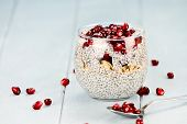 Chia Seed And Pomegranate Parfait