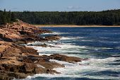 The rugged coastline of Mount Desert Island, Acadia National Park, Maine, USA