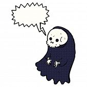 pic of ghoul  - cartoon spooky ghoul with speech bubble - JPG