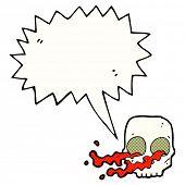 stock photo of grossed out  - gross cartoon skull - JPG
