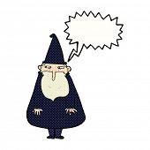 cartoon wizard with speech bubble