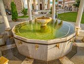 Ablution pool in Fatih Mosque, Pristina