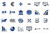 Stock Market Finance Icon Set