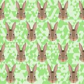 Abstract Geometric Polygonal Rabbit Seamless Pattern