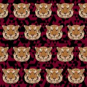 Abstract Geometric Polygonal Tiger Seamless Pattern