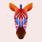 Abstract Geometric Polygonal Zebra