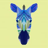 Polygonal Geometric Triangle Abstract Zebra