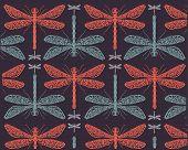 Dragonflies pattern