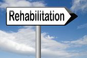 pic of drug addict  - rehabilitation rehab for drugs alcohol addiction or sport and accident injury physical or mental therapy  - JPG