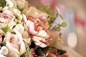Close Up Of Artificial Flowers.