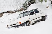 Winter car accident